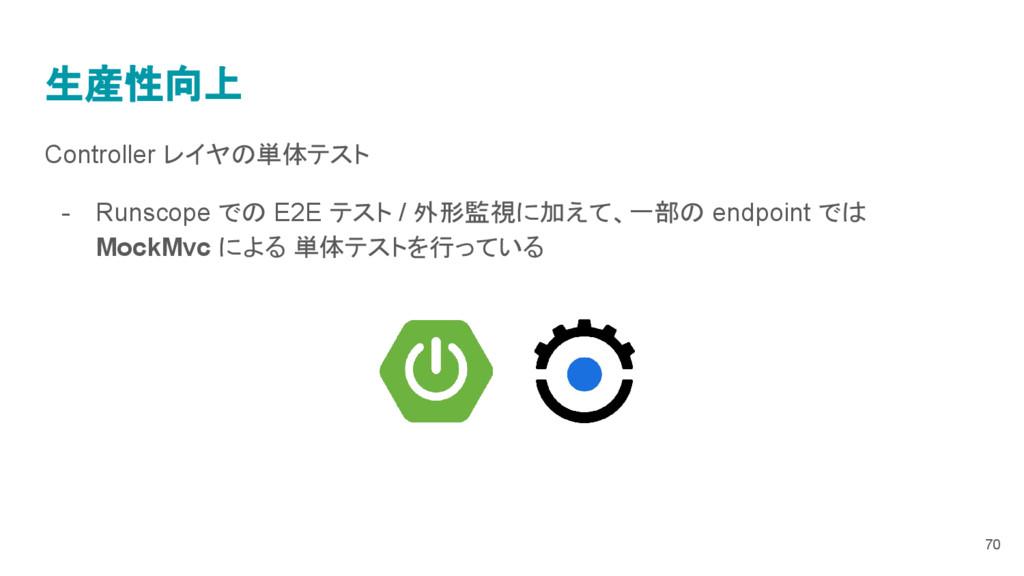 生産性向上 Controller レイヤの単体テスト - Runscope での E2E テス...