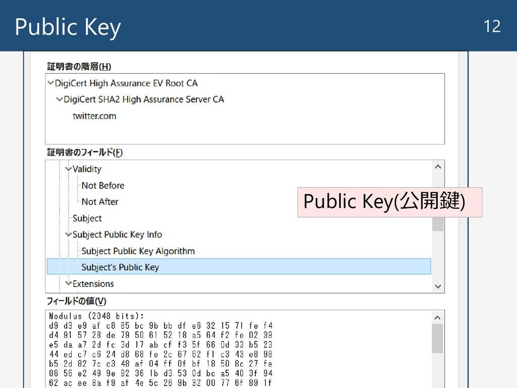 Public Key 12 Public Key(公開鍵)