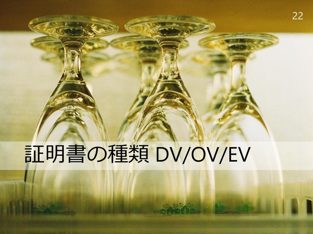 22 証明書の種類 DV/OV/EV