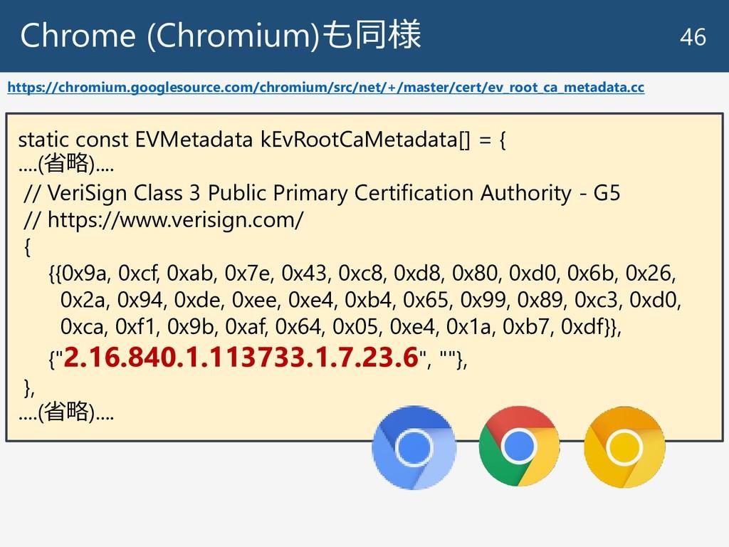 Chrome (Chromium)も同様 46 https://chromium.google...