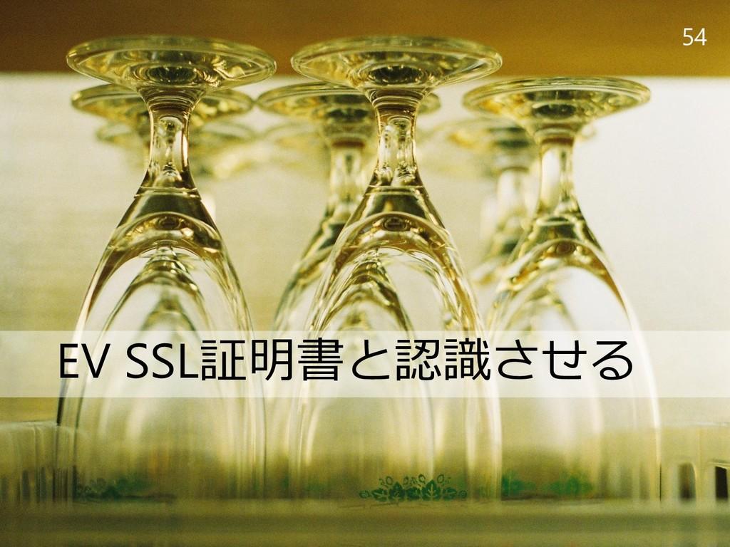 54 EV SSL証明書と認識させる