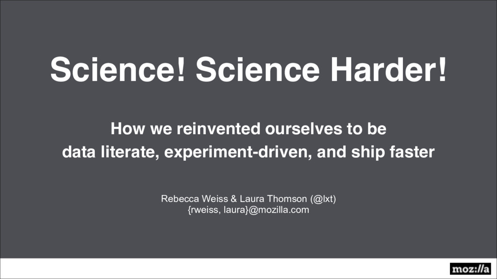 Science! Science Harder! How we reinvented ours...