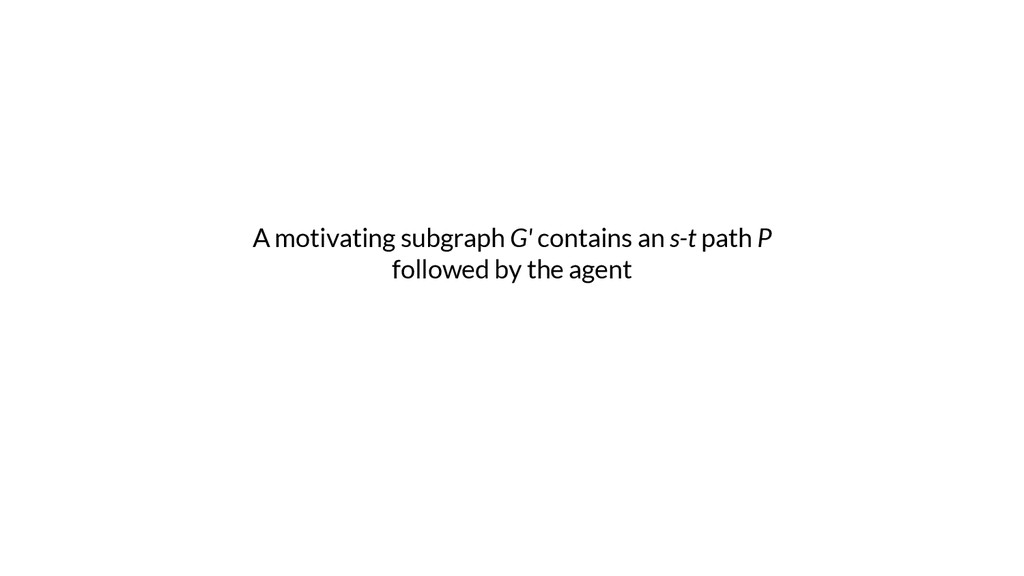 A motivating subgraph G' contains an s-t path P...