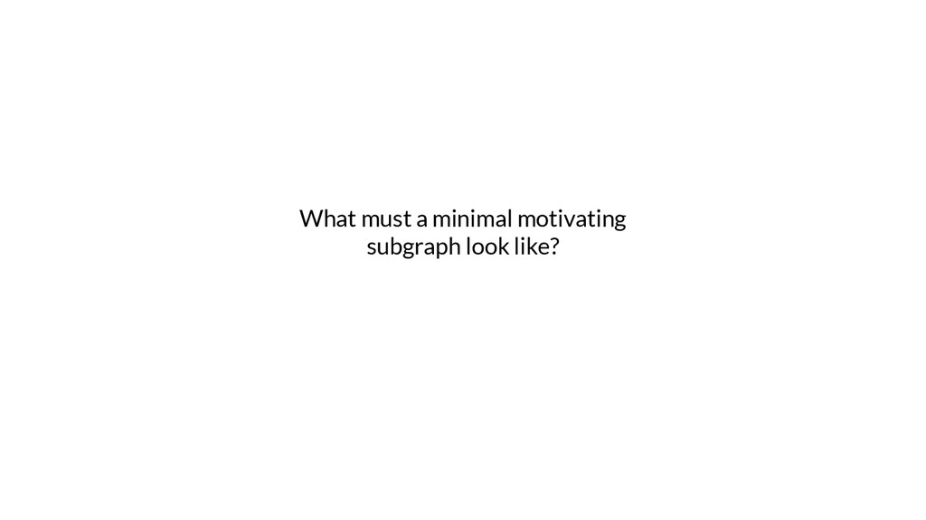 What must a minimal motivating subgraph look li...