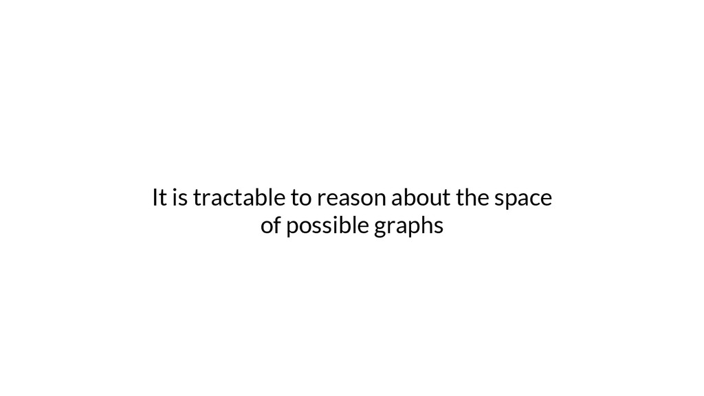 It is tractable to reason about the space of po...