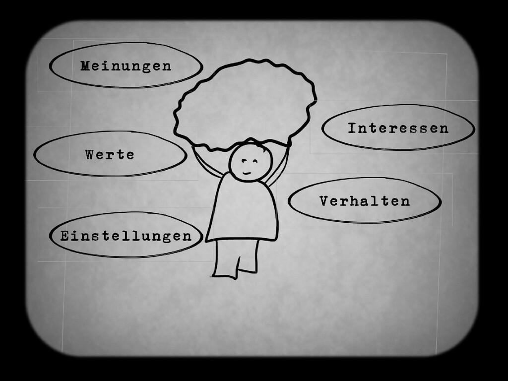 Meinungen Interessen Einstellungen Verhalten We...