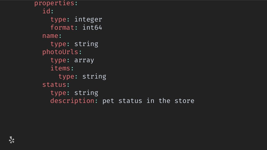 properties: id: type: integer format: int64 nam...
