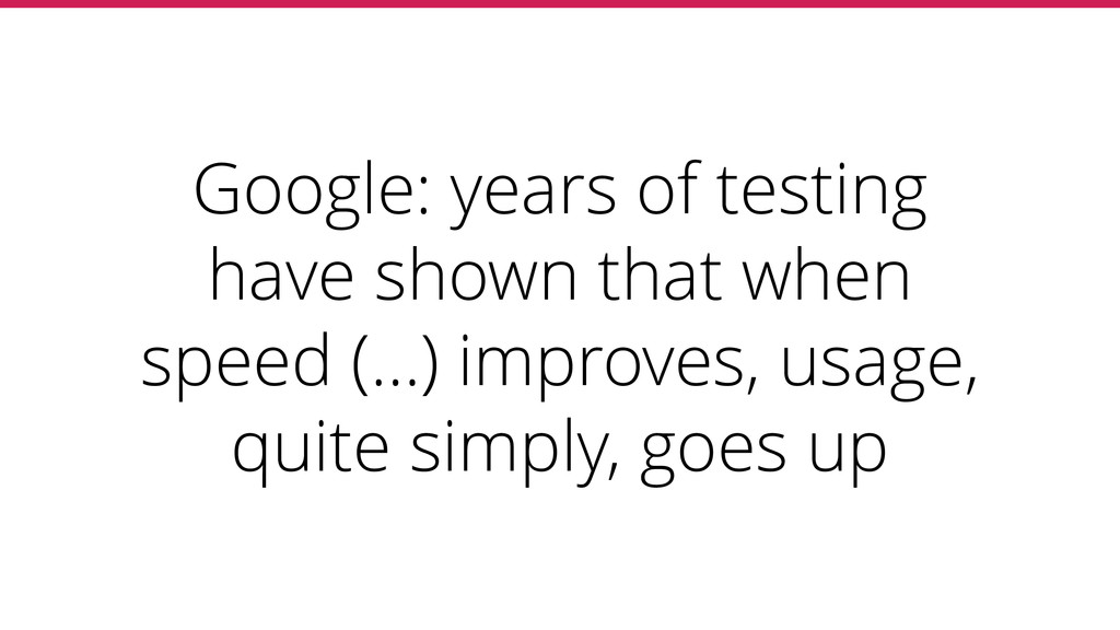 Google: years of testing have shown that when s...