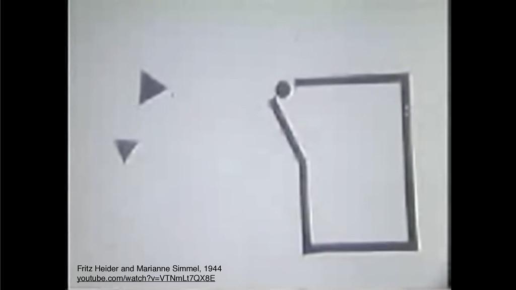 Fritz Heider and Marianne Simmel, 1944 youtube....