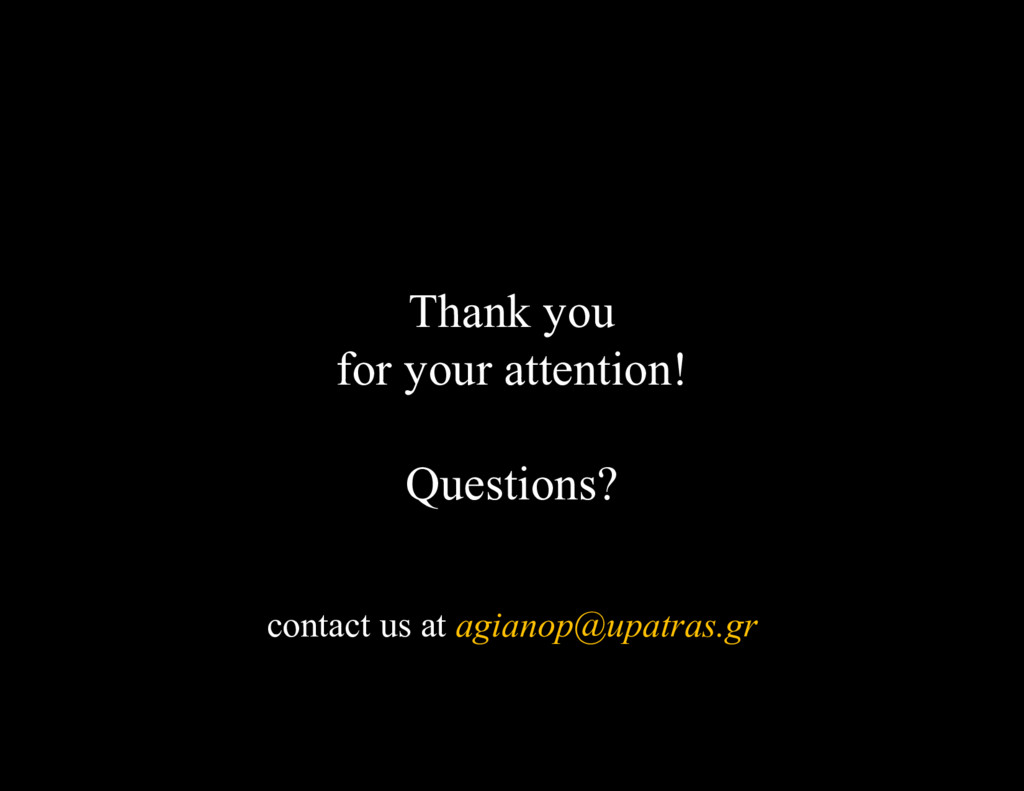 Thank you for your attention! Questions? contac...