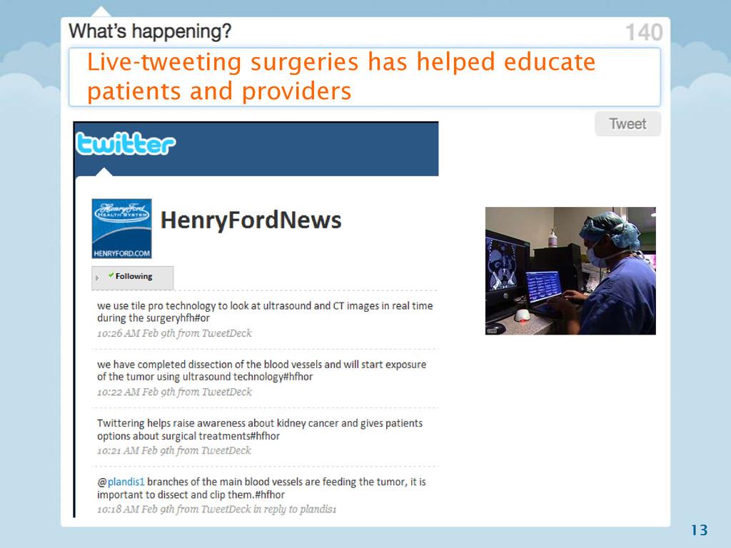 13 Live-tweeting surgeries has helped educate p...