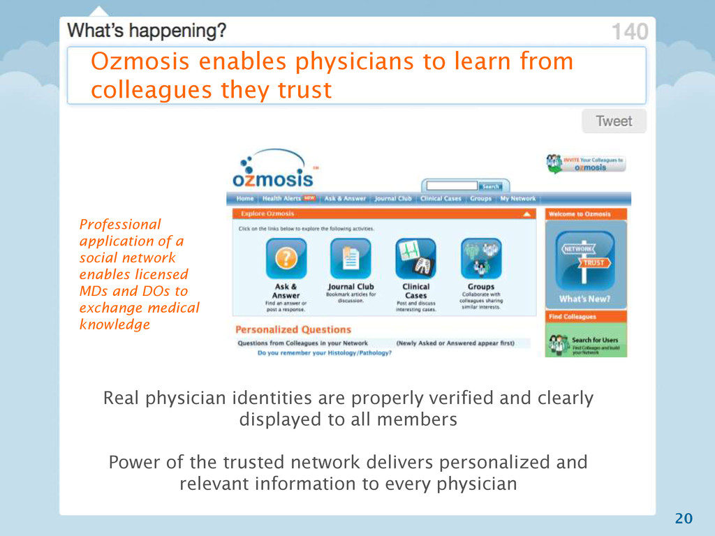 20 Ozmosis enables physicians to learn from col...
