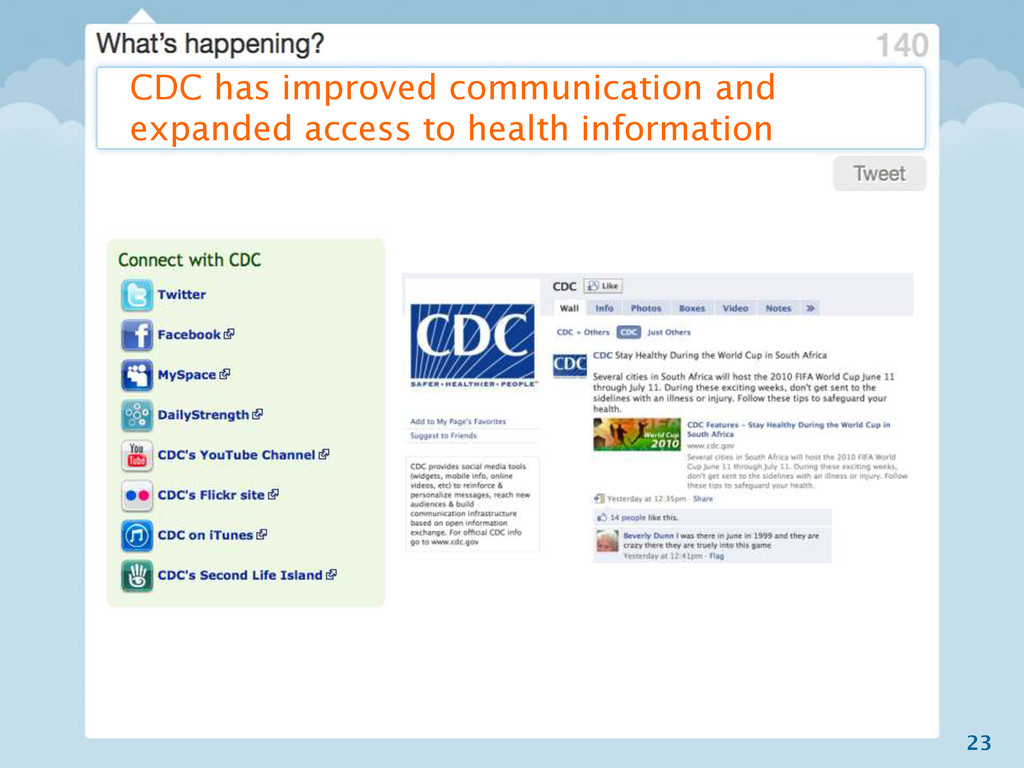 23 CDC has improved communication and expanded ...