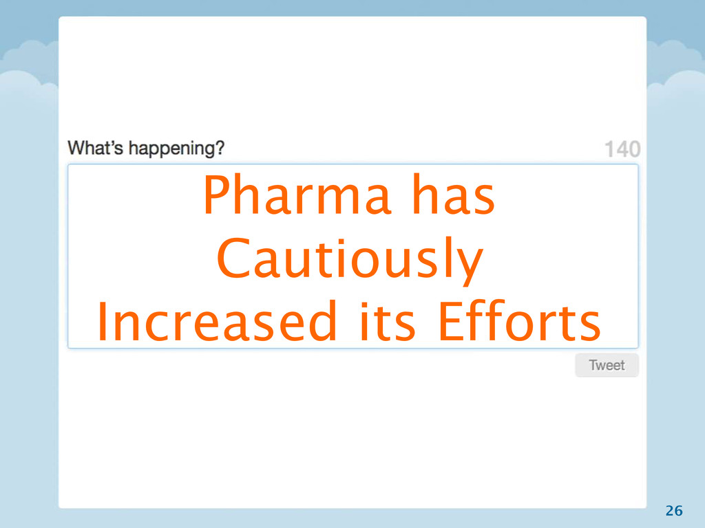 26 Pharma has Cautiously Increased its Efforts
