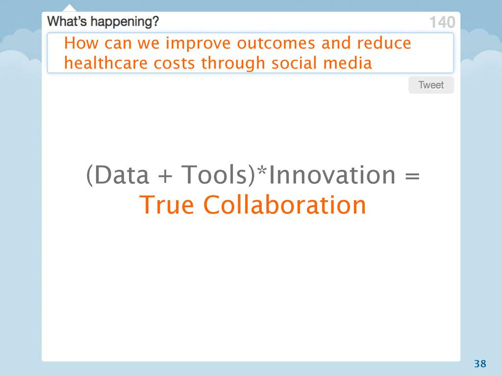 38 (Data + Tools)*Innovation = True Collaborati...