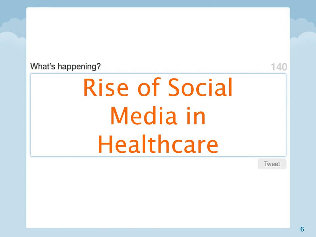 6 Rise of Social Media in Healthcare
