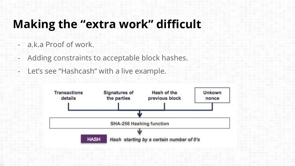 """Making the """"extra work"""" difficult - a.k.a Proof..."""