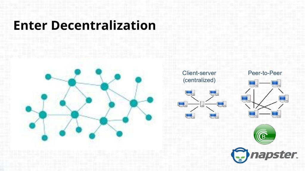 Enter Decentralization Peer-to-Peer Client-serv...