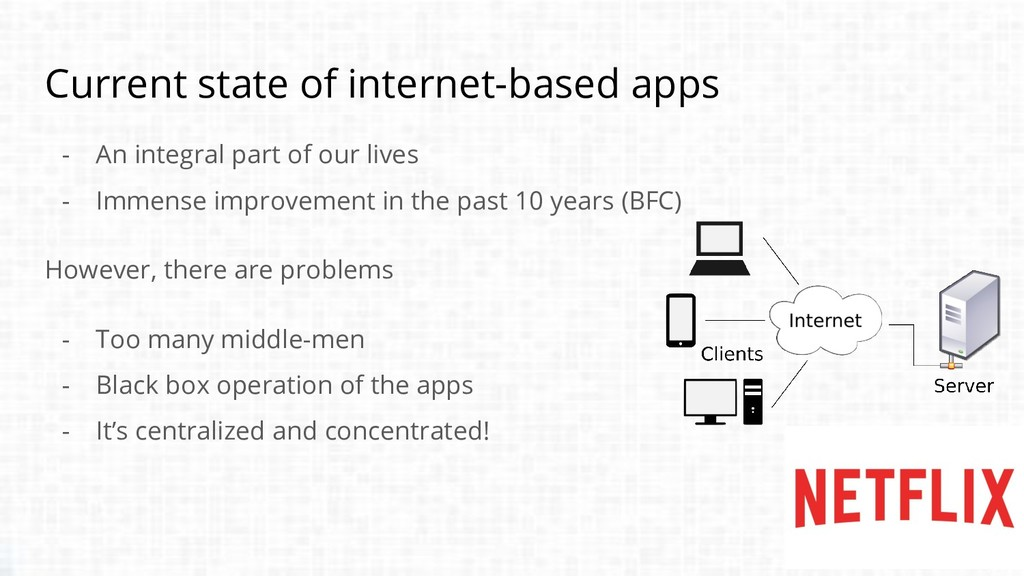 Current state of internet-based apps - An integ...