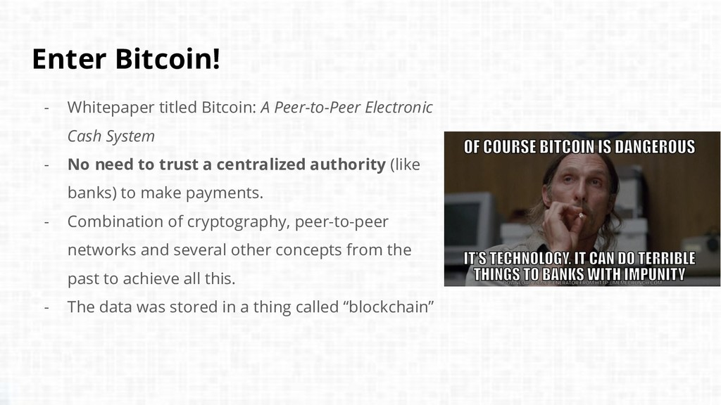 Enter Bitcoin! - Whitepaper titled Bitcoin: A P...