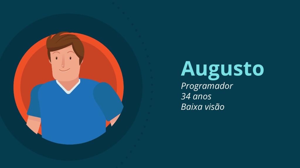 Augusto Programador 34 anos Baixa visão