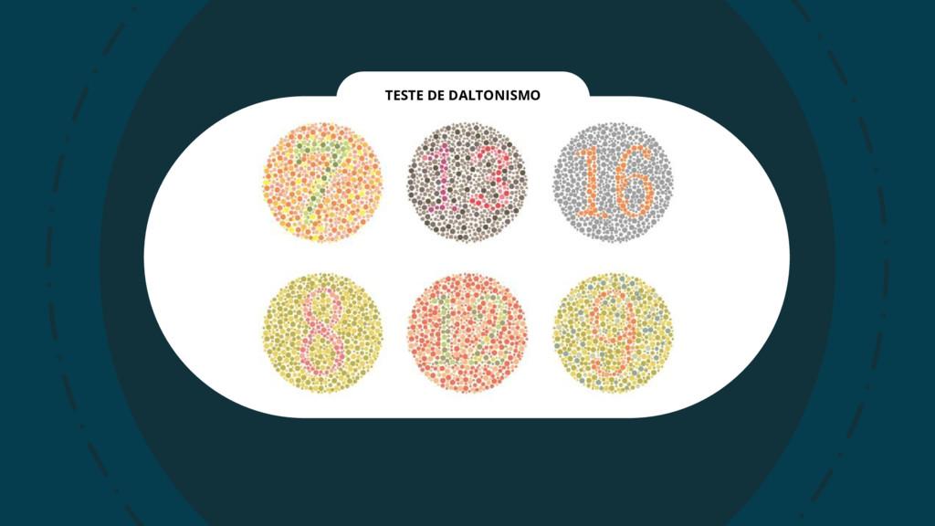 TESTE DE DALTONISMO