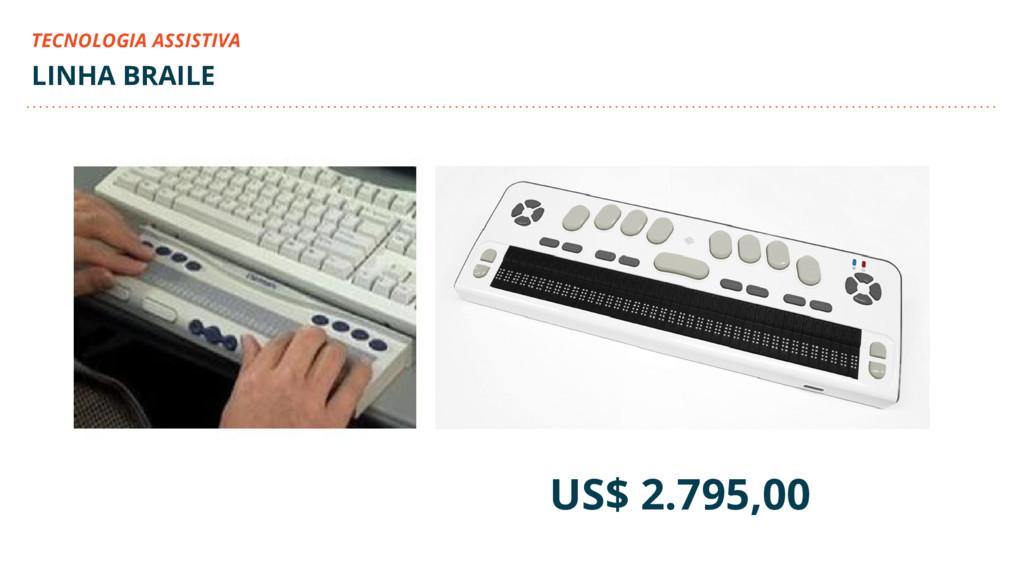 US$ 2.795,00 LINHA BRAILE TECNOLOGIA ASSISTIVA