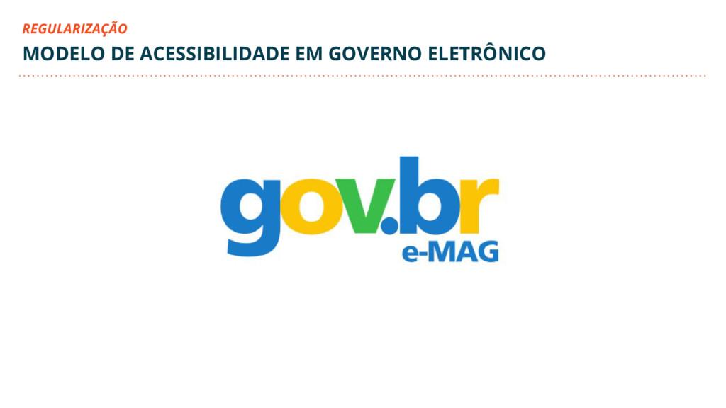 MODELO DE ACESSIBILIDADE EM GOVERNO ELETRÔNICO ...