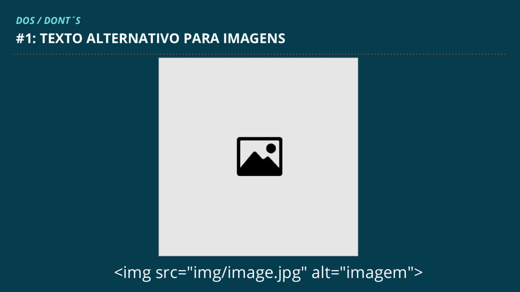 """<img src=""""img/image.jpg"""" alt=""""imagem""""> #1: TEXT..."""