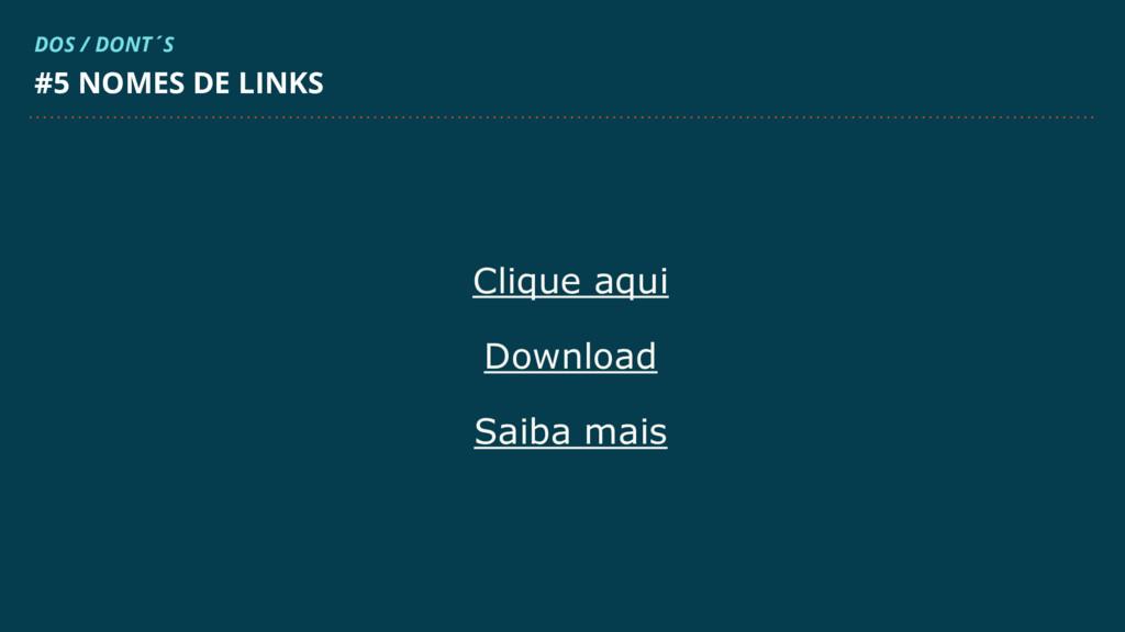 Clique aqui Download Saiba mais #5 NOMES DE LIN...