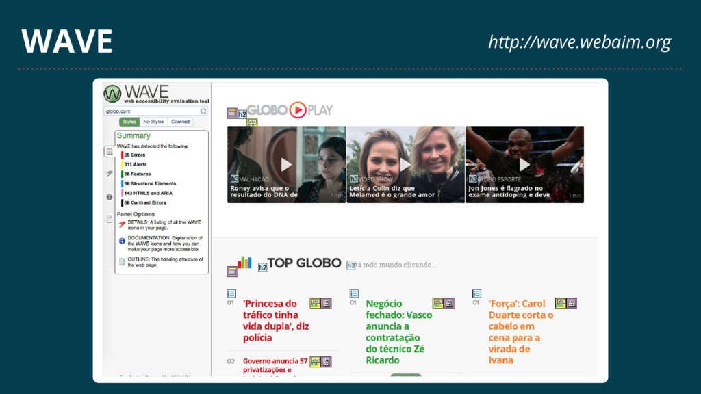WAVE http://wave.webaim.org