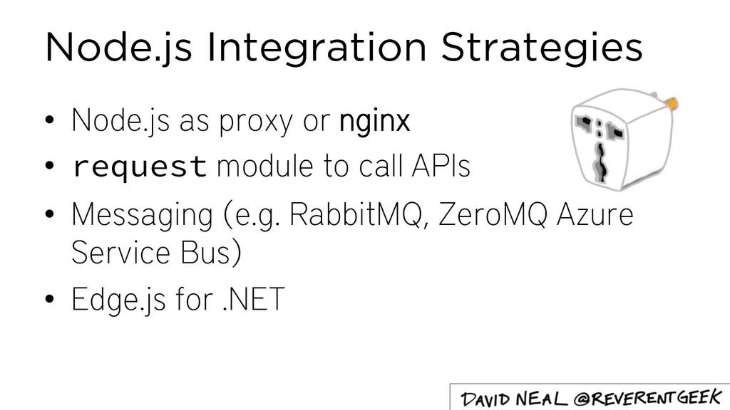 Node.js Integration Strategies • Node.js as pro...