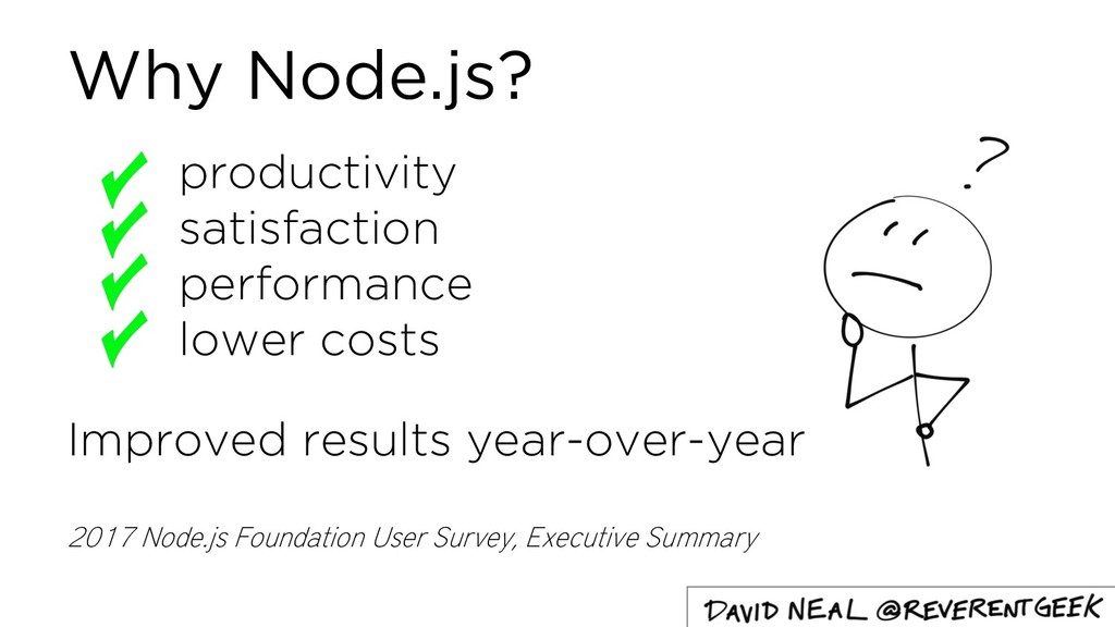 Why Node.js? productivity satisfaction performa...
