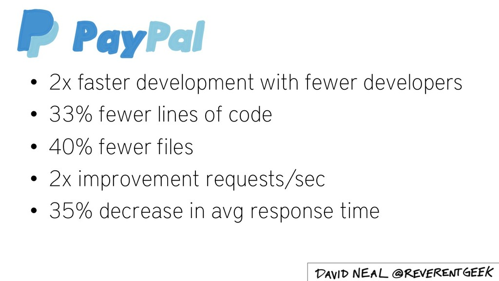 • 2x faster development with fewer developers •...