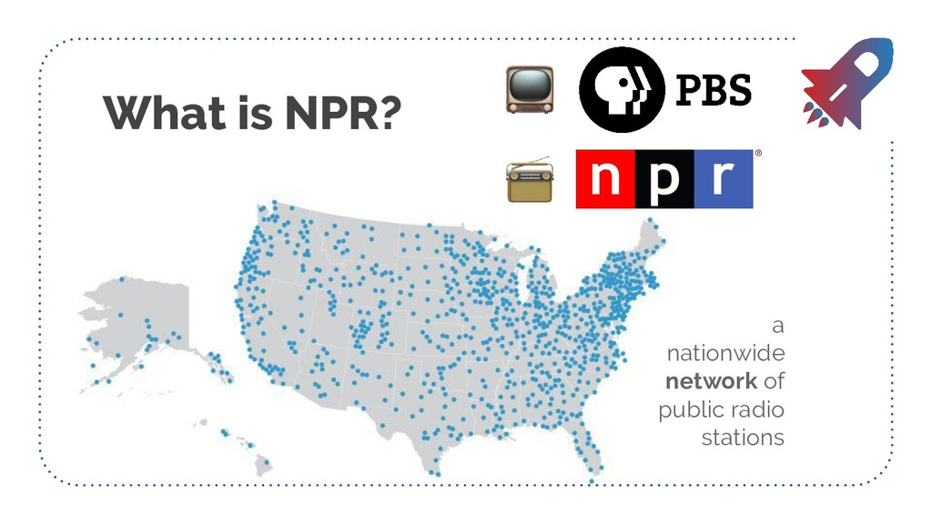 What is NPR? a nationwide network of public rad...