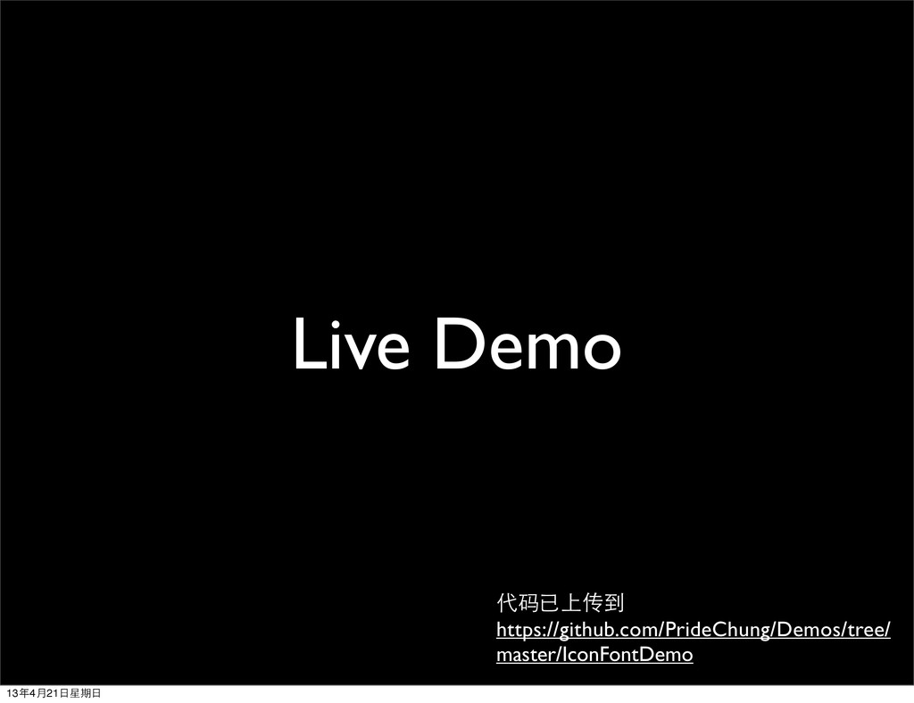 Live Demo 代码已上传到 https://github.com/PrideChung/...