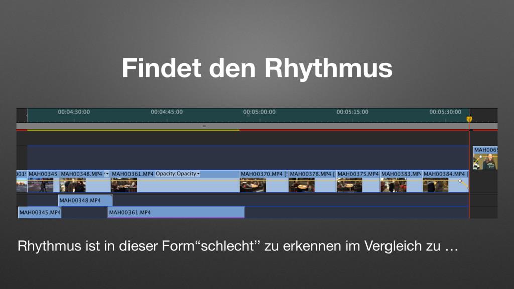 Findet den Rhythmus Rhythmus ist in dieser Form...