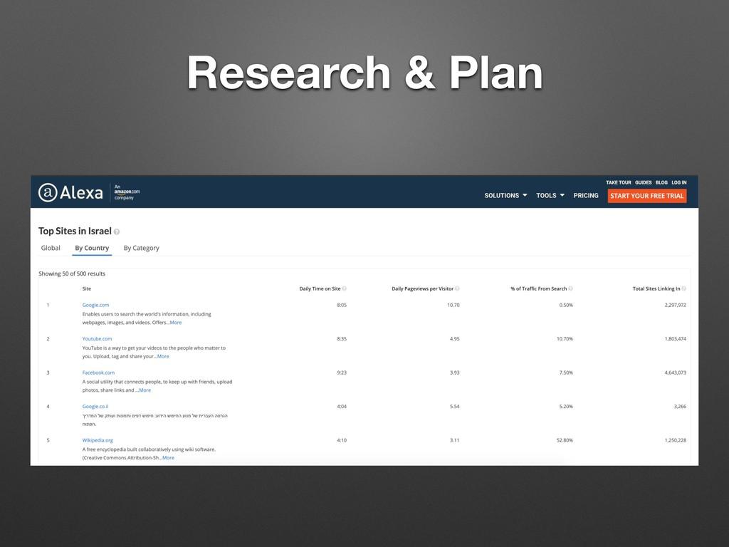 Research & Plan