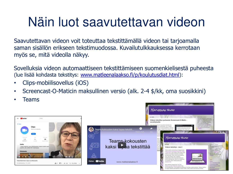 www.matleenalaakso.fi Blogin koulutusdiojen siv...
