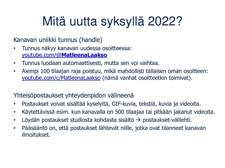 YouTube-kanavan luominen Voit käyttää YouTubea ...