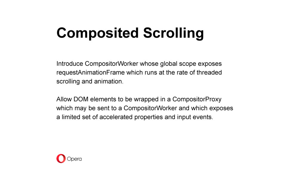 Composited Scrolling Introduce CompositorWorker...