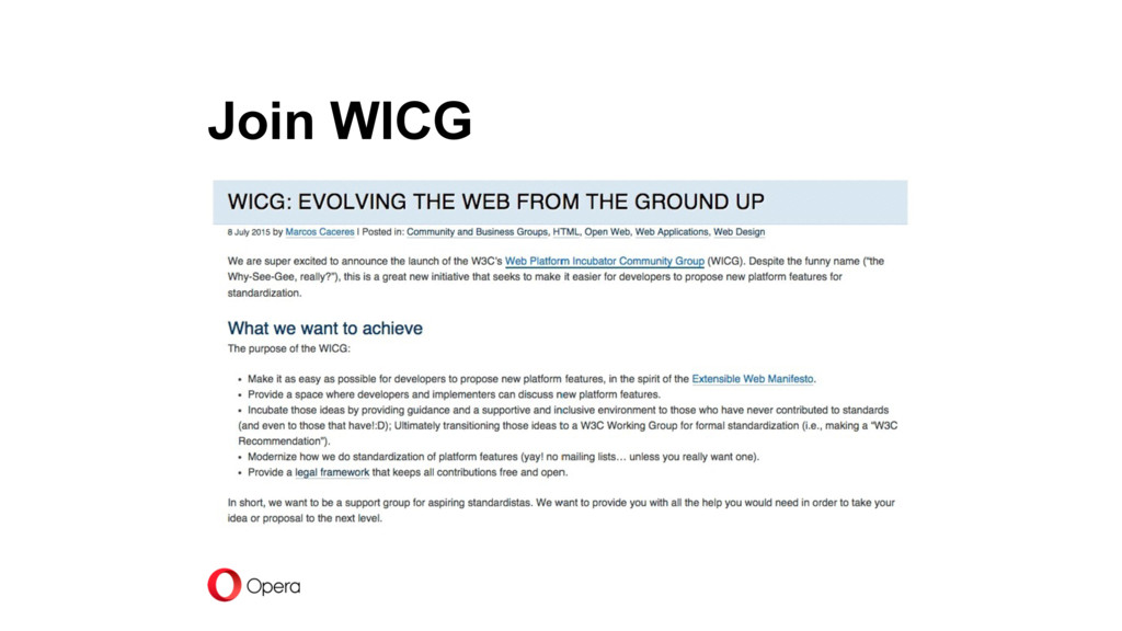 Join WICG
