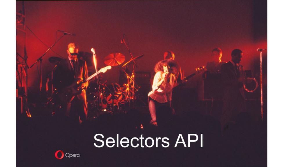 Selectors API