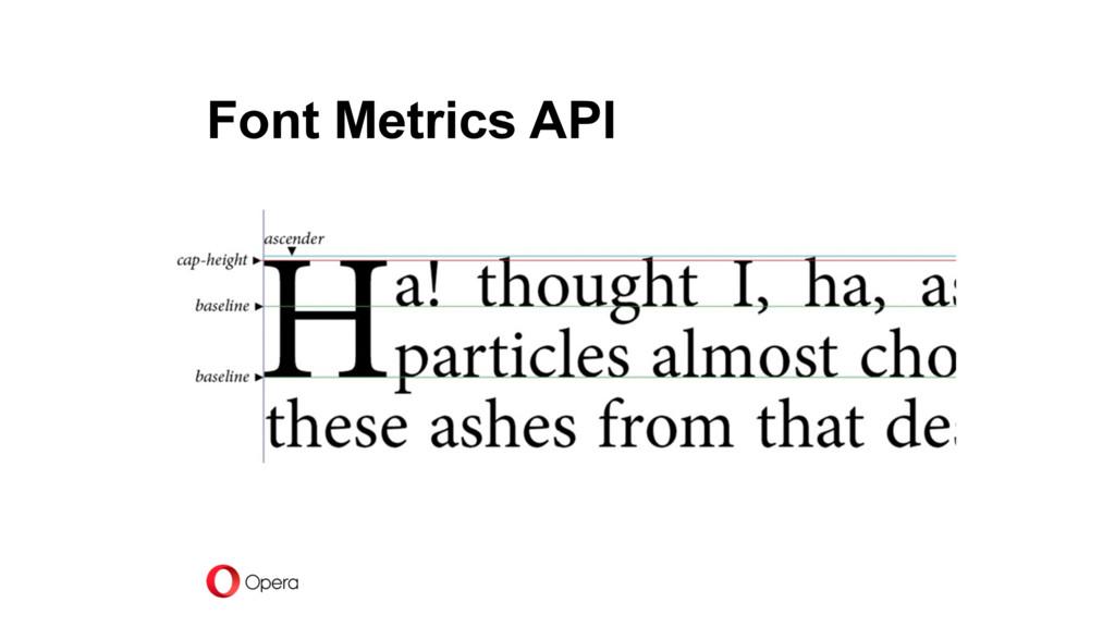 Font Metrics API