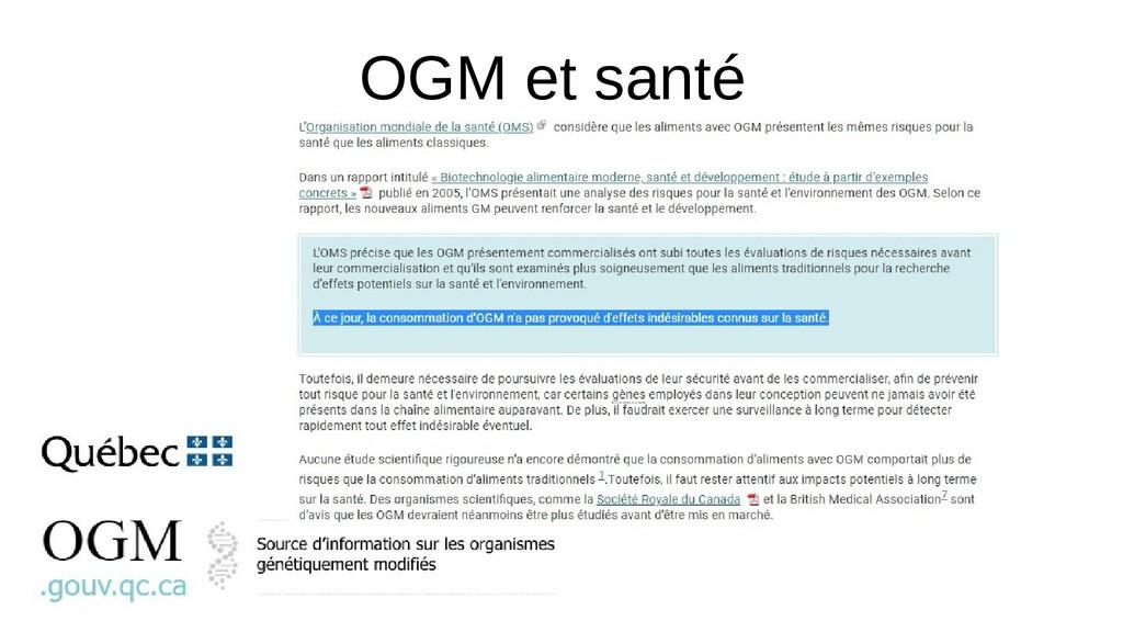 OGM et santé