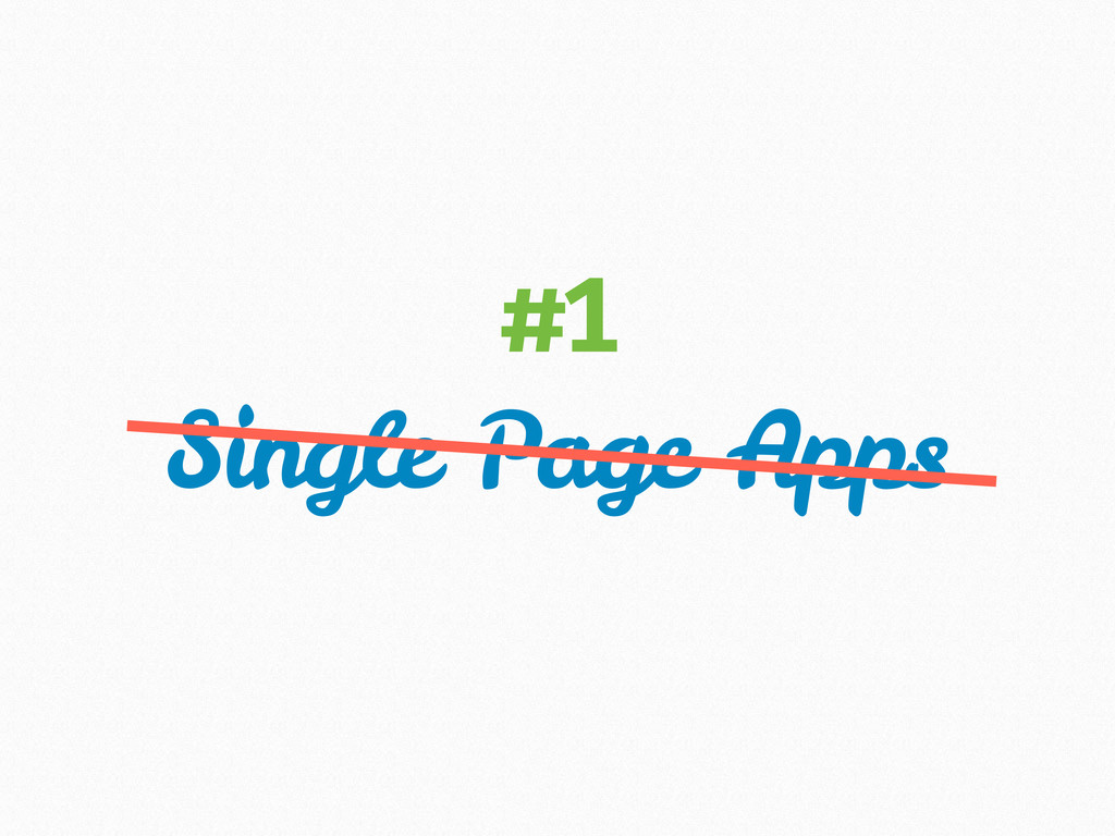 Single Page Apps #1