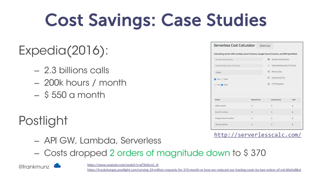 Cost Savings: Case Studies Expedia(2016): – 2.3...