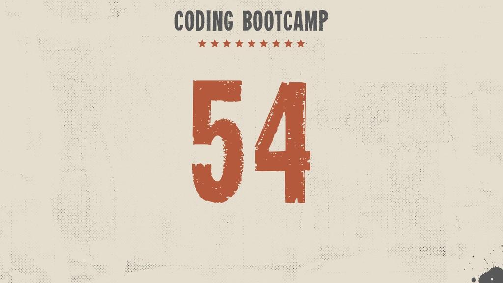 !8 CODING BOOTCAMP 54