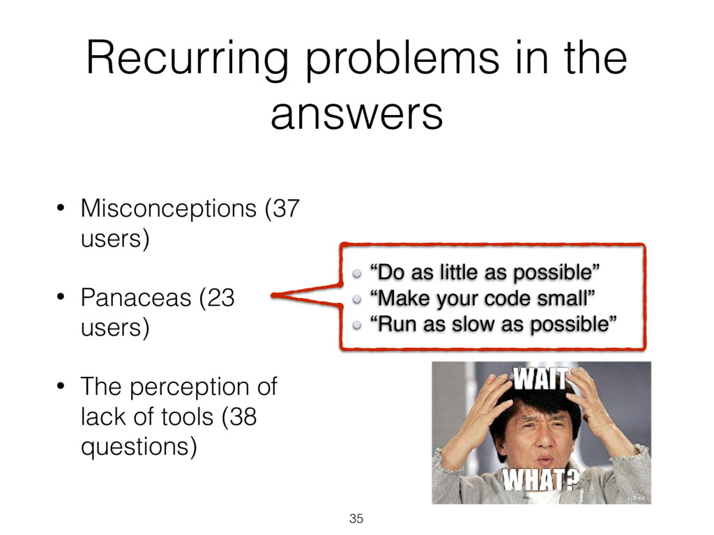 "Recurring problems in the answers 35 ""Do as lit..."