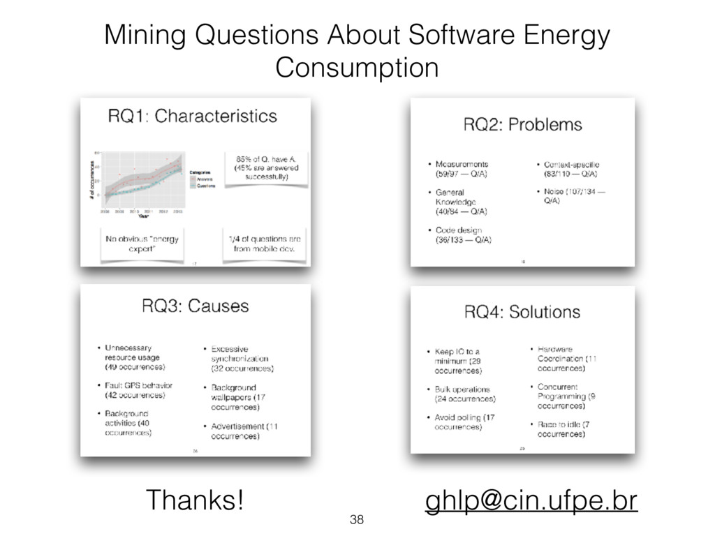 38 Mining Questions About Software Energy Consu...